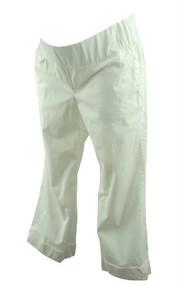 White GAP Maternity Cuffed Capri Maternity Pants (Gently Used - Size 8 Regular)