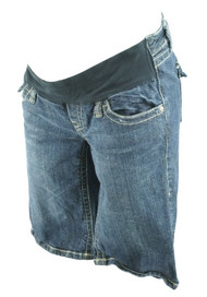 Denim Blue A Pea in the Pod Maternity Jean Shorts (Gently Used - Size Medium)