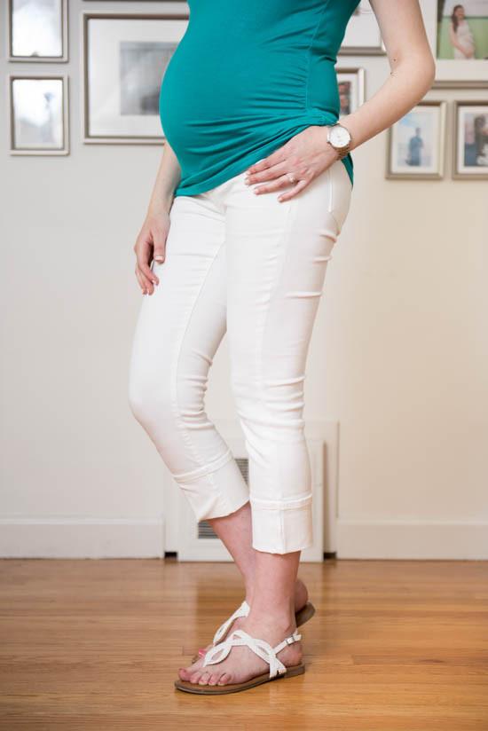 125d84ac964 New* White Lila Ryan Kent Maternity Cuffed Cropped Capri Skinny ...