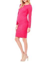 Berry Ingrid & Isabel Maternity Boatneck Lace Dress (Like New - Size Medium)