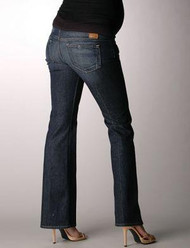 Dark Wash Paige Maternity Paige Denim Maternity Laurel Canyon Maternity Low Rise Bootcut Jeans (Gently Used - Size 28)