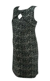*New* Black A Pea in the Pod Maternity Etched Print Sleeveless Career Maternity Dress (Size Small)