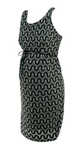 *New* Black & White A Pea in the Pod Maternity Waved Crochet Print Sleeveless Maternity Dress with Exposed Zipper (Size Medium)