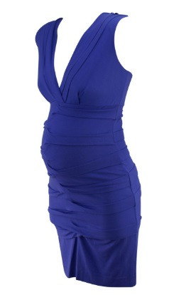 8f895b4331161 ... Iris Purple Artelier by Nicole Miller for A Pea in the Pod Maternity  Collection Pleated Front Ruched Sleeveless Maternity Dress (Size Medium).  Image 1