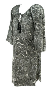 Gray Rachel Zoe for A Pea in the Pod Collection Maternity Versatile Paisley Print Maternity Dress (Gently Used - Size Medium)