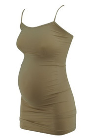 Beige A Pea in the Pod Maternity Knee Length Compression Body Shaper (Like New - Size Small)