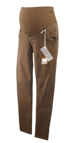 *New* Warm Brown Love 2 Wait Maternity Full Panel Skinny Leg Pants