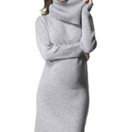 Heather Grey Isabella Oliver Maternity Long Sleeve  Turtle Neck Dress  (Gently Used - Size 1/4USA)