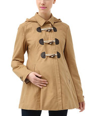 Camel MoMo Maternity Hooded Winter Coat (Gently Used - Size Medium)