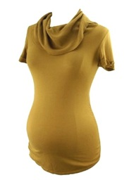 Camel A Pea in the Pod Maternity Ribbed Cowlneck Maternity Sweater (Gently Used - Size Small)