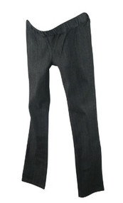 *New* Dark Gray Mom 2 Mom Maternity Cinched Straight Leg Maternity Jeans (Size 44)