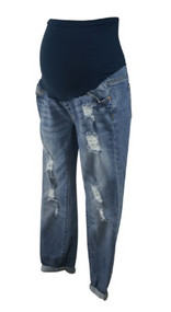 Light Wash LED Luxe Essential Denim Maternity Destruction Maternity Jeans (Like New - Size 4)