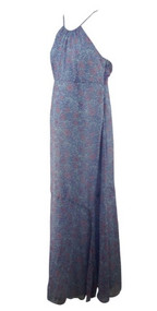 Lilac A Pea in the Pod Maternity Halter Strap Maxi Maternity Dress (Like New - Size Small)