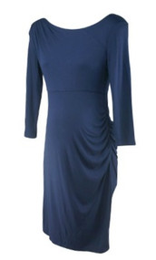 Navy A Pea in the Pod Maternity 3/4 Sleeve Special Occasion Maternity Dress (Like New - Size Small)