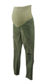 Army Green J Brand for A Pea in the Pod Collection Maternity Destruction Jeans (Like New - Size 27)