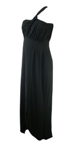 Black Rosie Pope Maternity One Shoulder Maxi Maternity Dress (Like New - Size Medium)