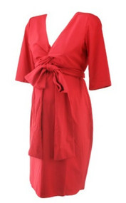 Scarlett Red Madeline Maternity Special Occasion Wrap Maternity Dress (Like New - Size 2)