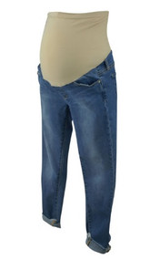 Light Blue Wash Articles of Society for A Pea in the Pod Collection Maternity Cuffed Skinny Jeans (Gently Used - Size 27)