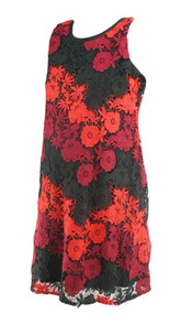 Red Taylor for A Pea in the Pod Maternity Floral Special Occasion Maternity Dress (Gently Used - Size Medium)