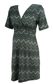 Black and White Aztec Print Ma Cherie Maternity Career Dress (Like New - Size Large)