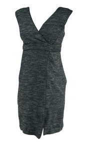 Heather Gray Leather Trim A Pea in the Pod Maternity Sleeveless Maternity Dress (Like New - Size Small)