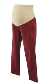 Muted Maroon A Pea in the Pod Maternity Skinny Career Maternity Pants (Like New - Size X-Small)