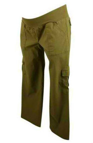 Army Greenish Brown Motherhood Maternity Boot Cut Cargo Pants (Like New - Size Small)