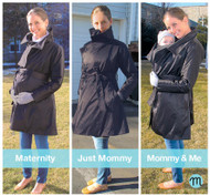 *New* Black Mulier Cozy Joey 3 in 1 AND 3 Season Coat for Maternity, Nursing and Beyond Coat