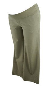 Khaki GAP Maternity Wide Leg Career Maternity Pants (Gently Used - Size 10)