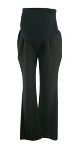 Black A Pea in the Pod Maternity Full Panel Career Maternity Straight Leg Pants (Gently Used - Size Large)