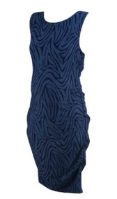 Blue A Pea in the Pod Maternity Swirl Print Bodycon Maternity Career Dress (Gently Used - Size Large)