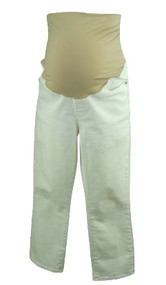 Ivory White Loft Maternity Cropped Maternity Jeans (Like New - Size Medium)