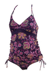 Plum Motherhood Maternity Floral Print 2 Pc Maternity Tankini Set (Gently Used - Size Small)