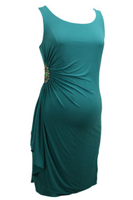 *New* Green A Pea In A Pod  Maternity Embellished Dress (Size Small)