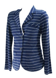 *New* Navy Stripe A Pea in the Pod Maternity Career Maternity Sweater Blazer (Size Medium)