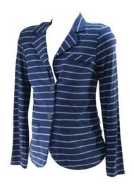 *New* Navy Stripe A Pea in the Pod Maternity Career Maternity Sweater Blazer (Size Medium)