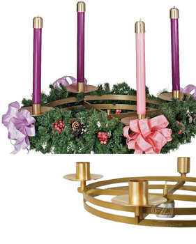 church advent wreath top 36 aluminum brass gold. Black Bedroom Furniture Sets. Home Design Ideas