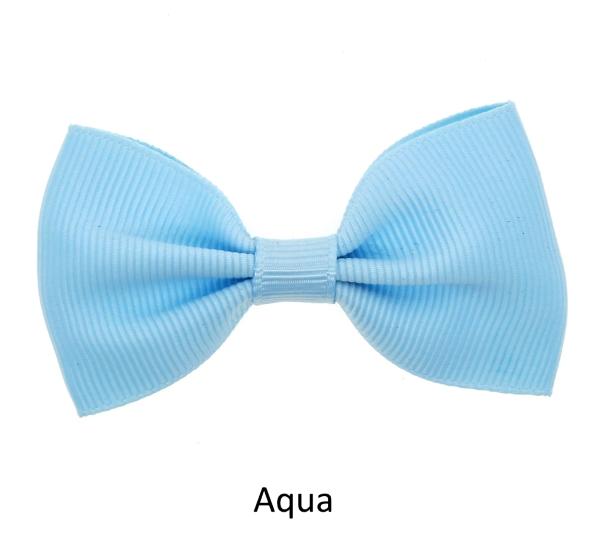 sky blue baby girl hair clips mini bow