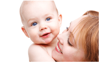 baby and mum