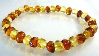 Adult Amber Bracelet - Bi Colour