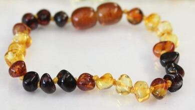 dew drop amber teething bracelets