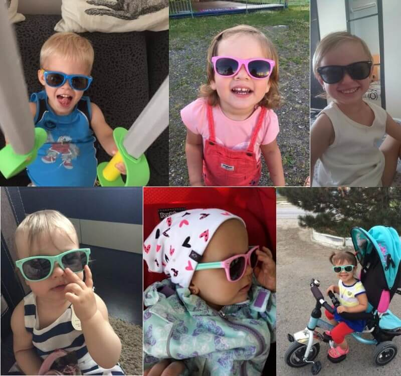 kids wearing sunglasses