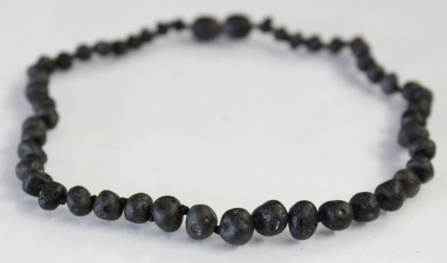 Raw Amber Teething Necklace - Cherry