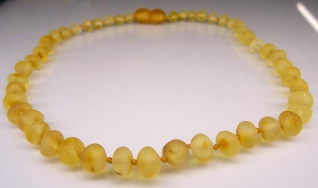 Raw Amber Teething Necklace - Honey