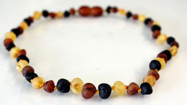 Raw Amber Teething Necklace - Multicolour