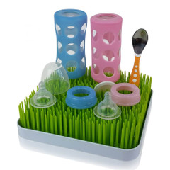 Green Grass Baby Bottle Drying Rack 24x24cm