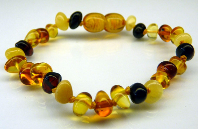 Amber Teething Bracelets - Multi-Scotch