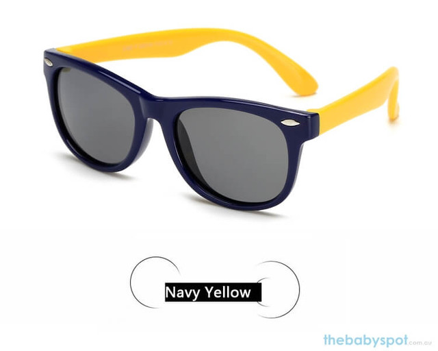 Kids Sunglasses - Navy/Yellow