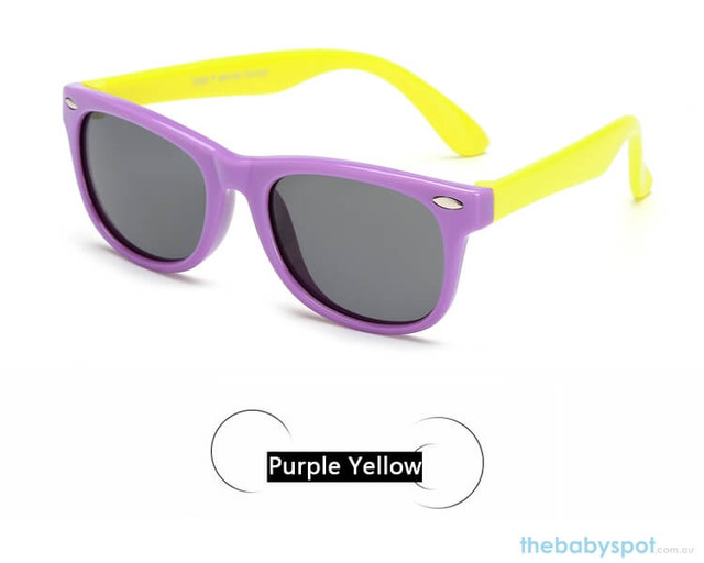 Kids Sunglasses - Purple/Yellow