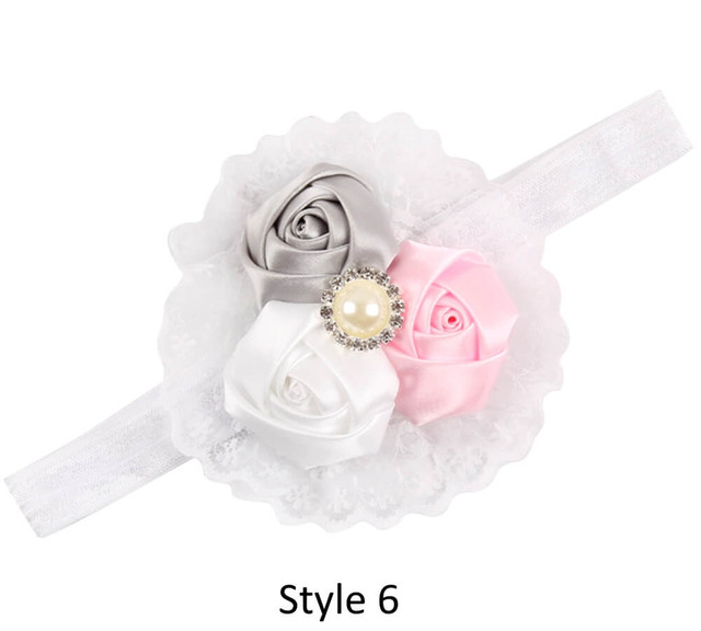 Baby Headband with 3 Rose - Style 6